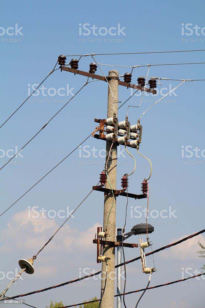 power distribution stock photo