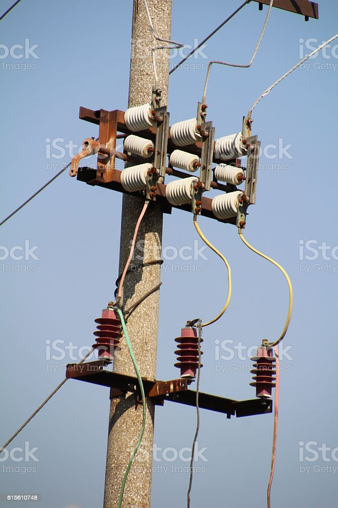 power distribution stock photo