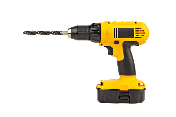 power drill with large bit power drill with large drill bit drill stock pictures, royalty-free photos & images