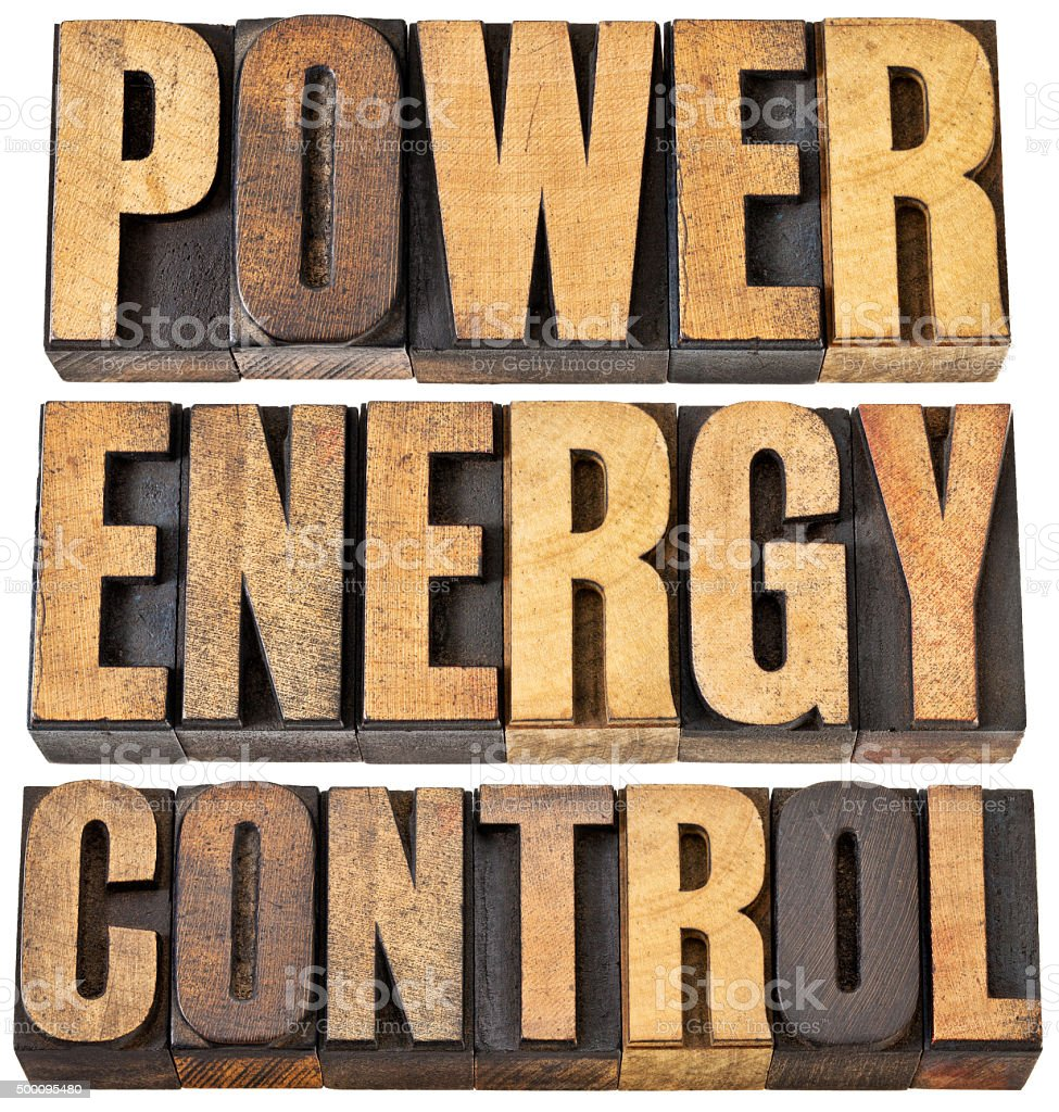 power, energy and control abstract stock photo