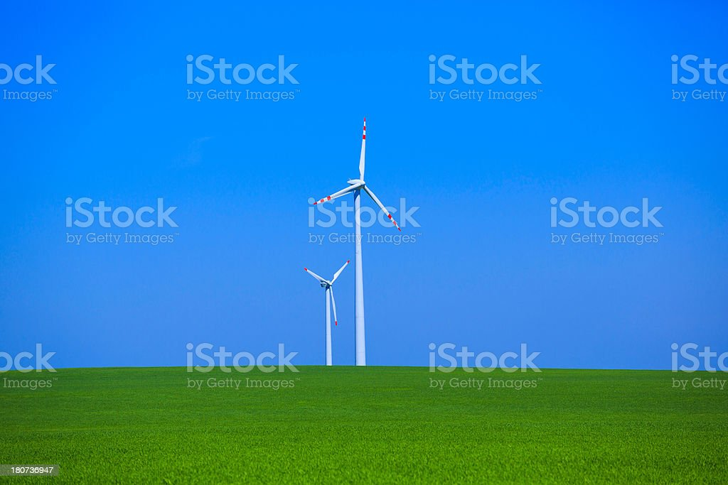 power generating wind turbine royalty-free stock photo