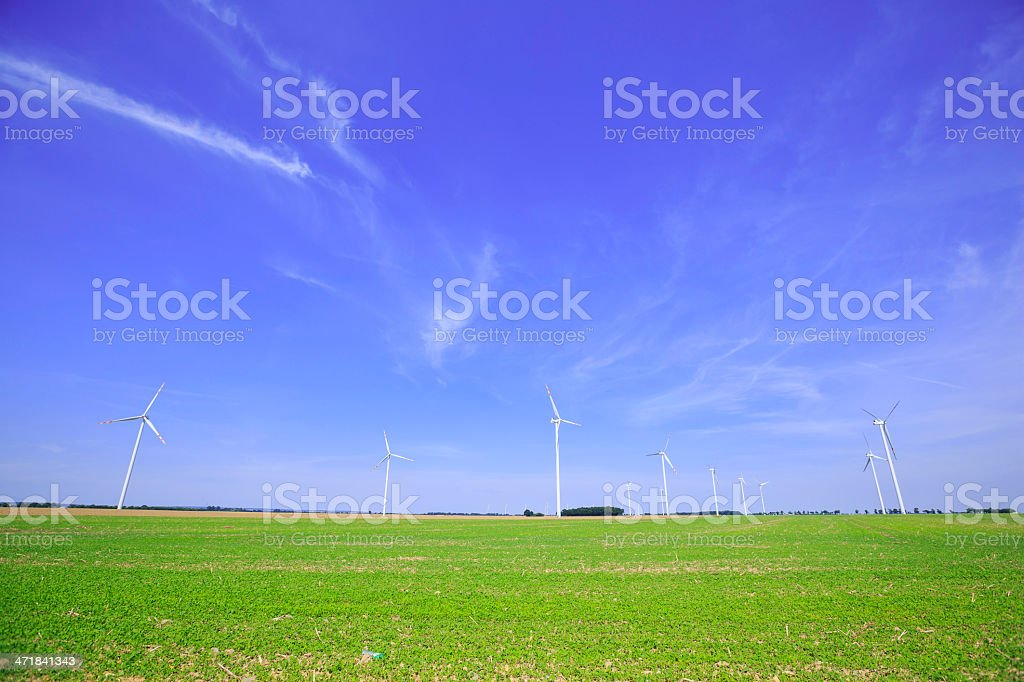 power generating wind turbine royalty-free stock photo