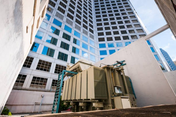power generator for large building office stock photo