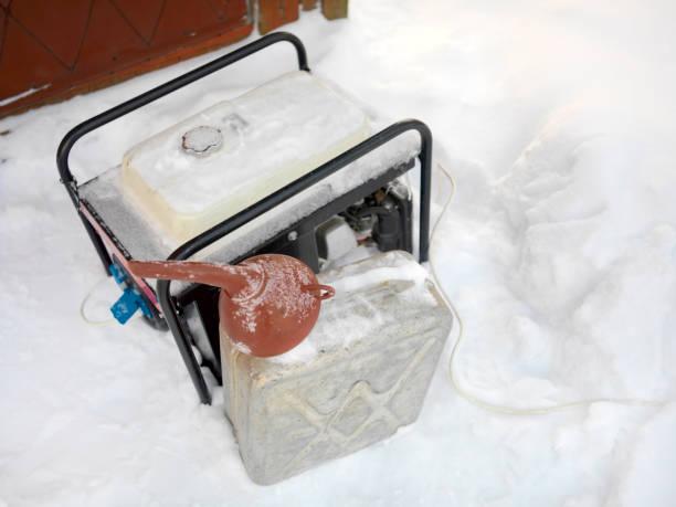 générateurs de courant en hiver - Photo