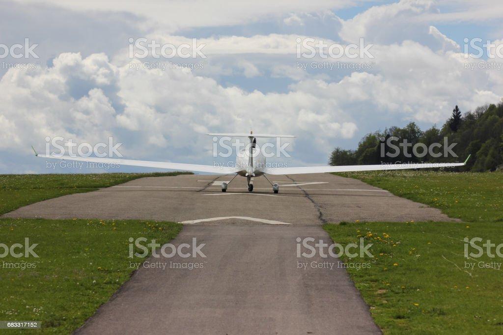 macht zweefvliegtuig u-bocht om te starten royalty free stockfoto