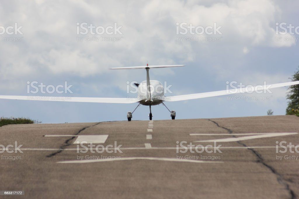 power glider u-turn to start royalty-free stock photo