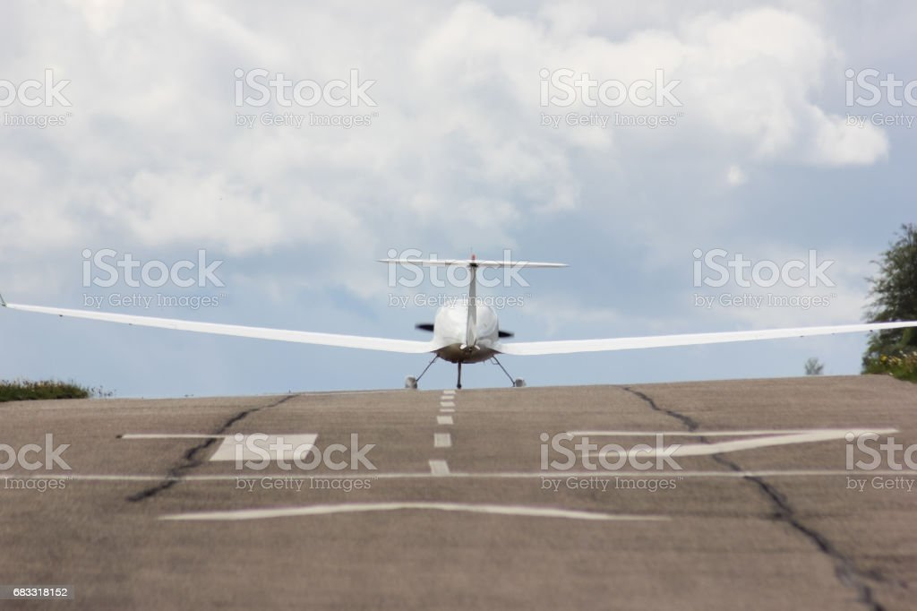 power glider u-turn to start foto stock royalty-free