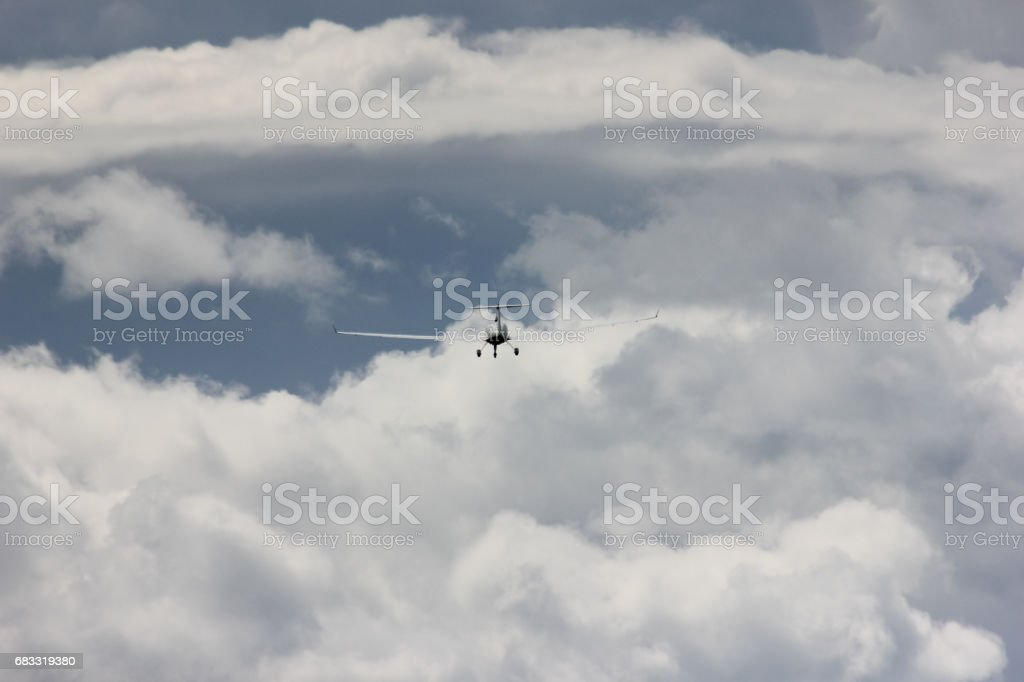 power glider u-turn to start royalty-free stock photo