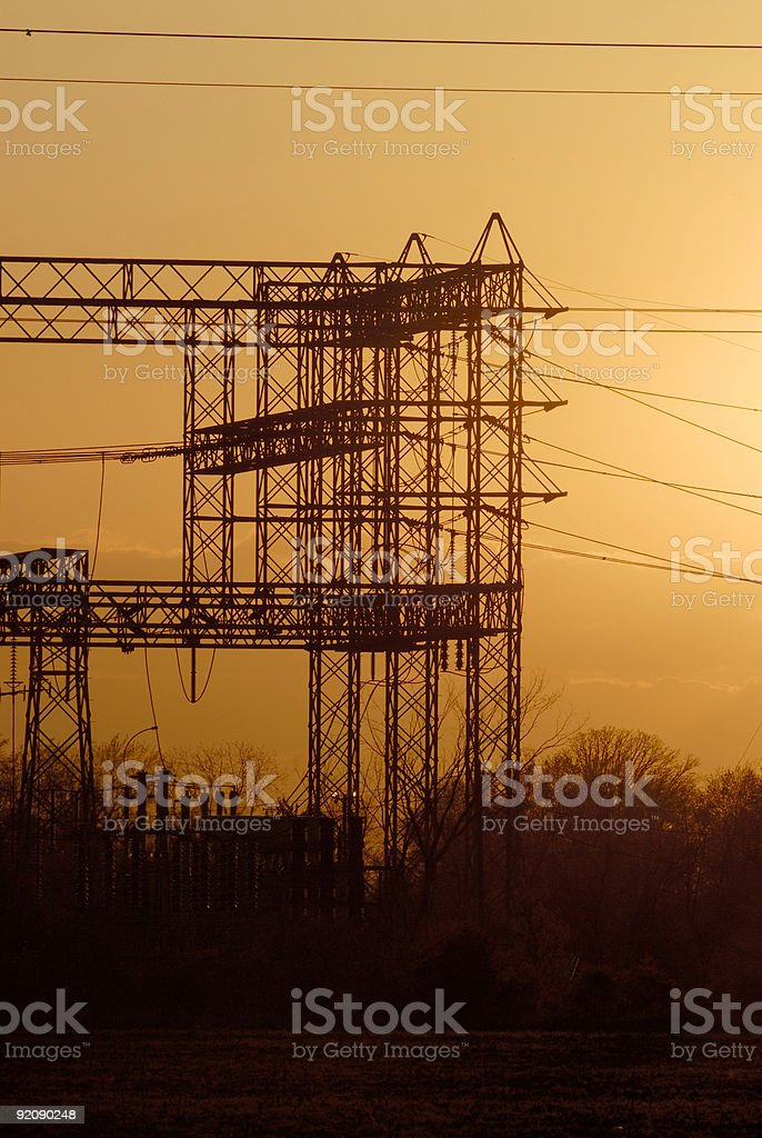 Power grid components stock photo