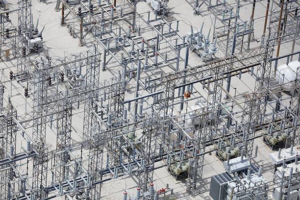 elettrica grid - rete elettrica foto e immagini stock