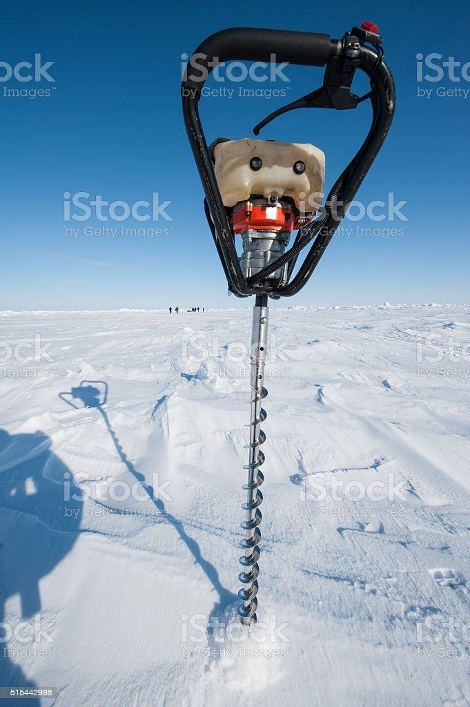 Power Ice Auger stock photo