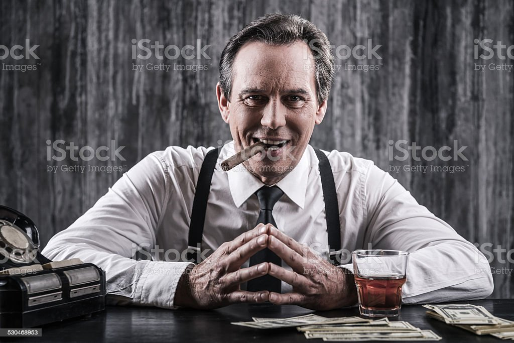 Power is in his hands. stock photo