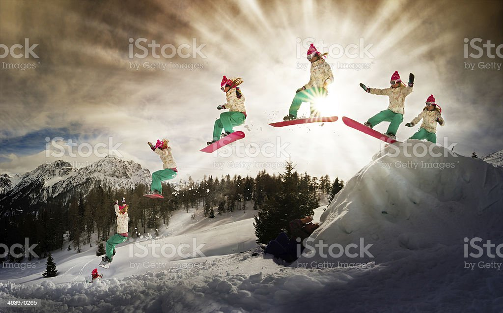 Power jump stock photo
