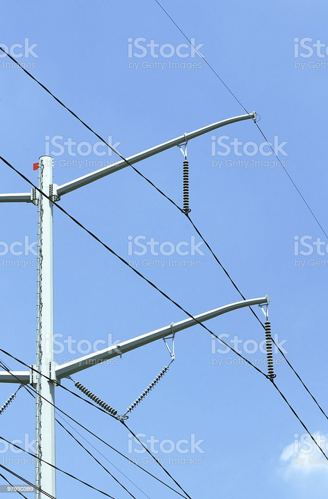 Power Line and Tower royalty-free stock photo
