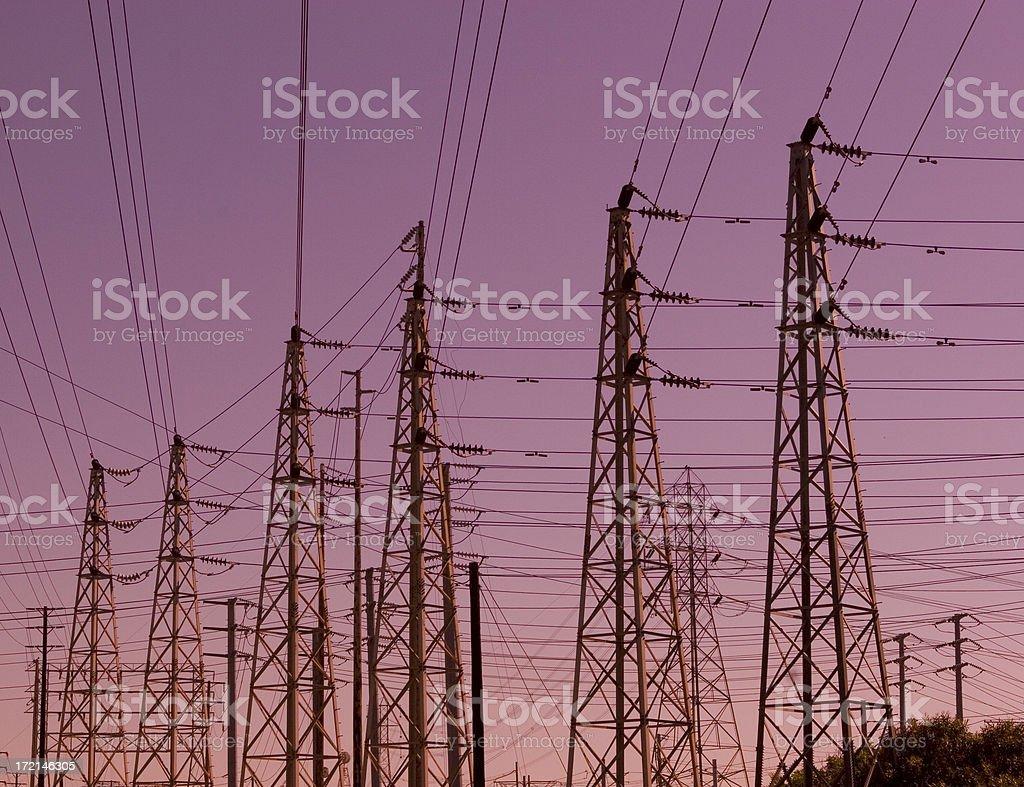 Power Line Crazy stock photo