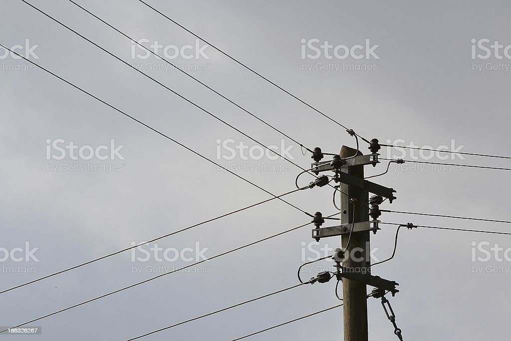 power line stock photo
