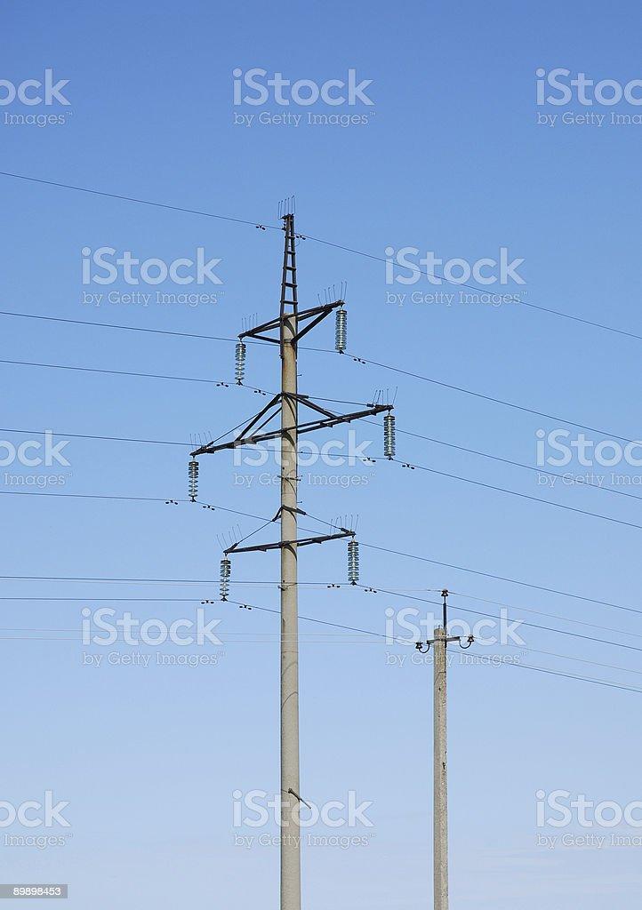 Линия электропередач Стоковые фото Стоковая фотография