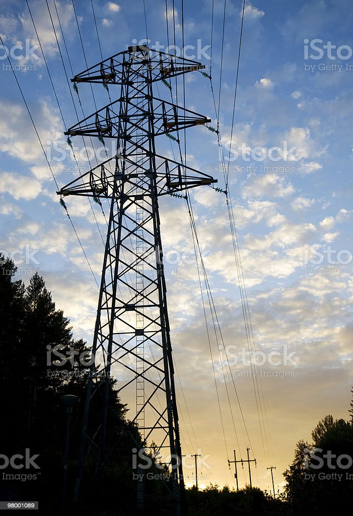Power line royalty-free stock photo