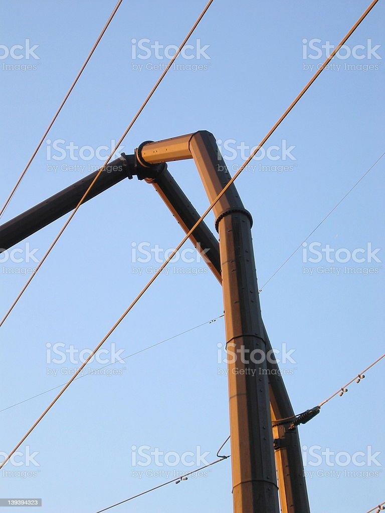 Power line pole royalty-free stock photo