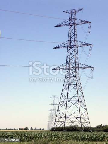 Power line pole.  energy, electricity, line, voltage,
