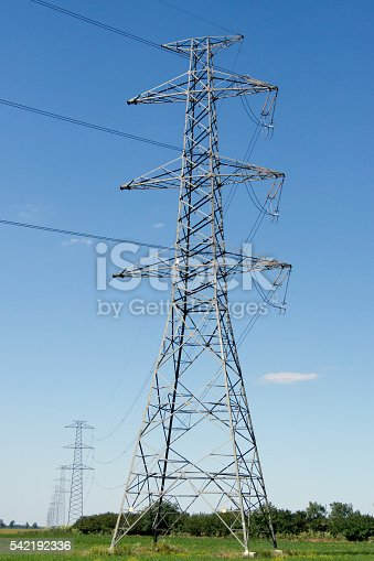 Power line pole.  energy, electricity, line, voltage,