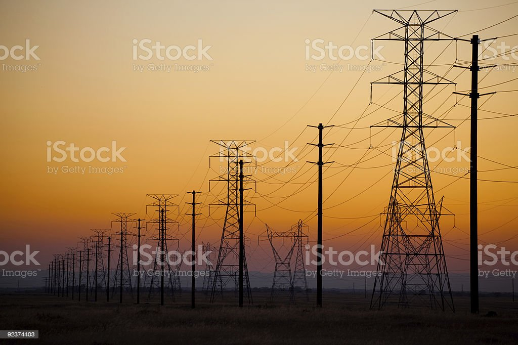 Power Line Silhouette royalty-free stock photo
