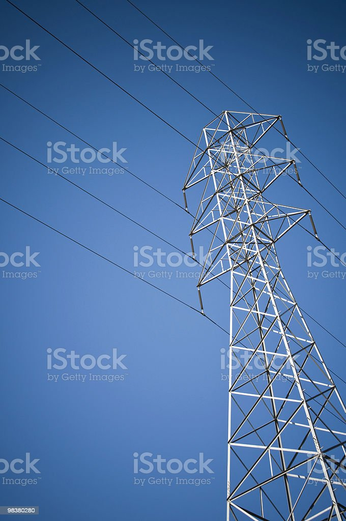 Power Line Tower royalty-free stock photo