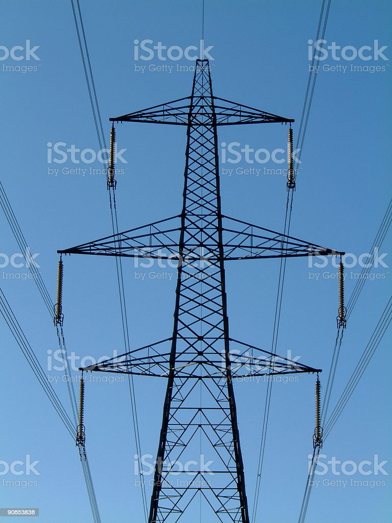 Power lines 001 royalty-free stock photo