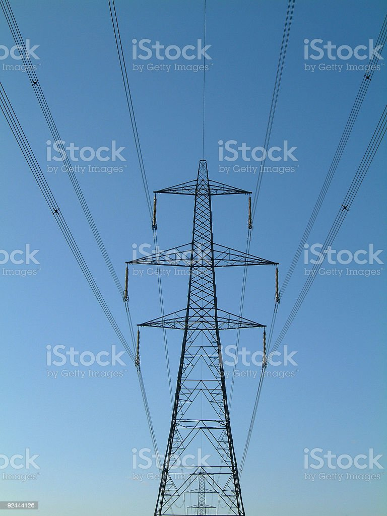 Power lines 002 royalty-free stock photo