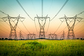 Electricity Pylon, Rural Scene, Connection, Construction Industry, Electricity