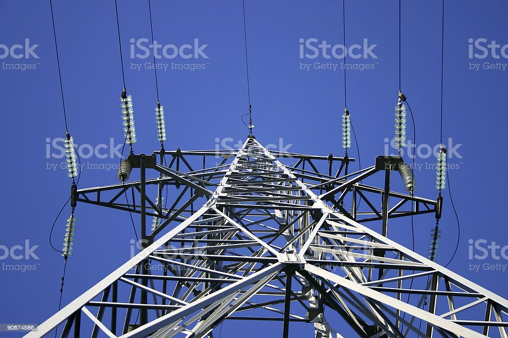 Power lines, detail view royalty-free stock photo