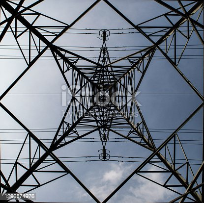 Power lines from an interesting angle