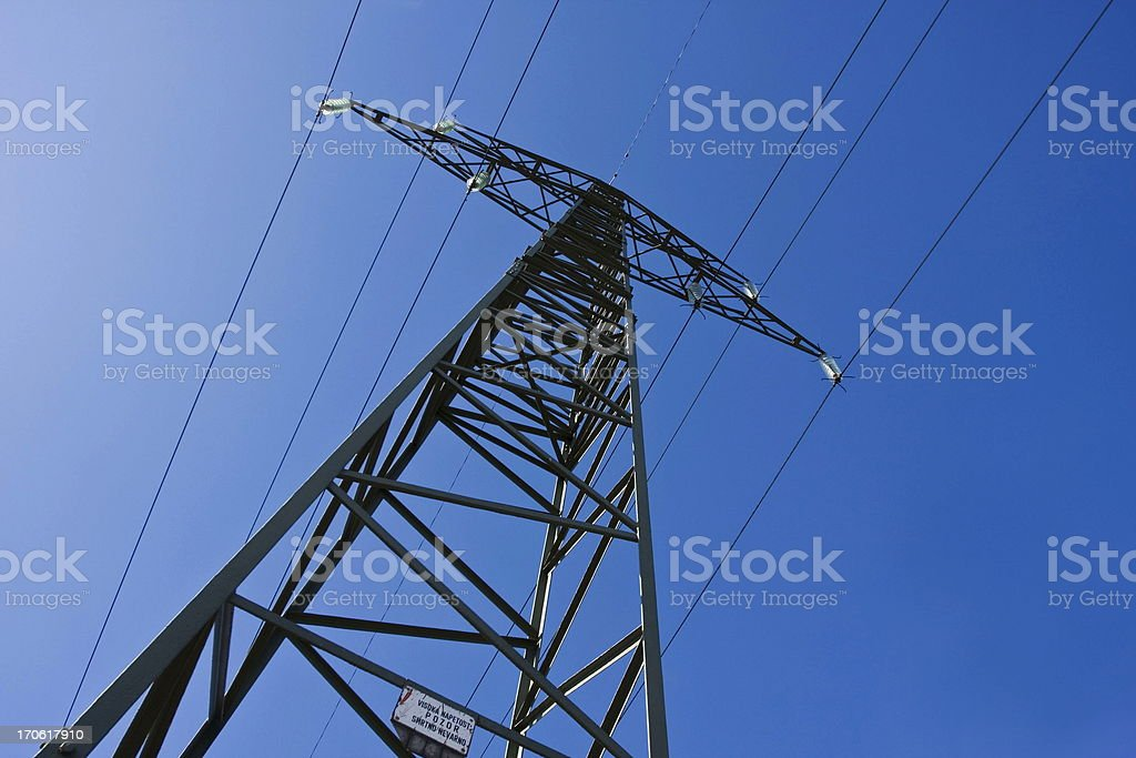 Power lines...Electric transmission royalty-free stock photo