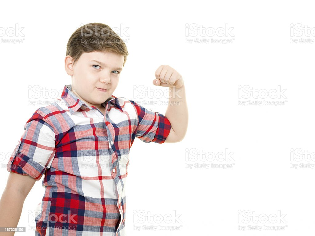 Power Little Boy royalty-free stock photo