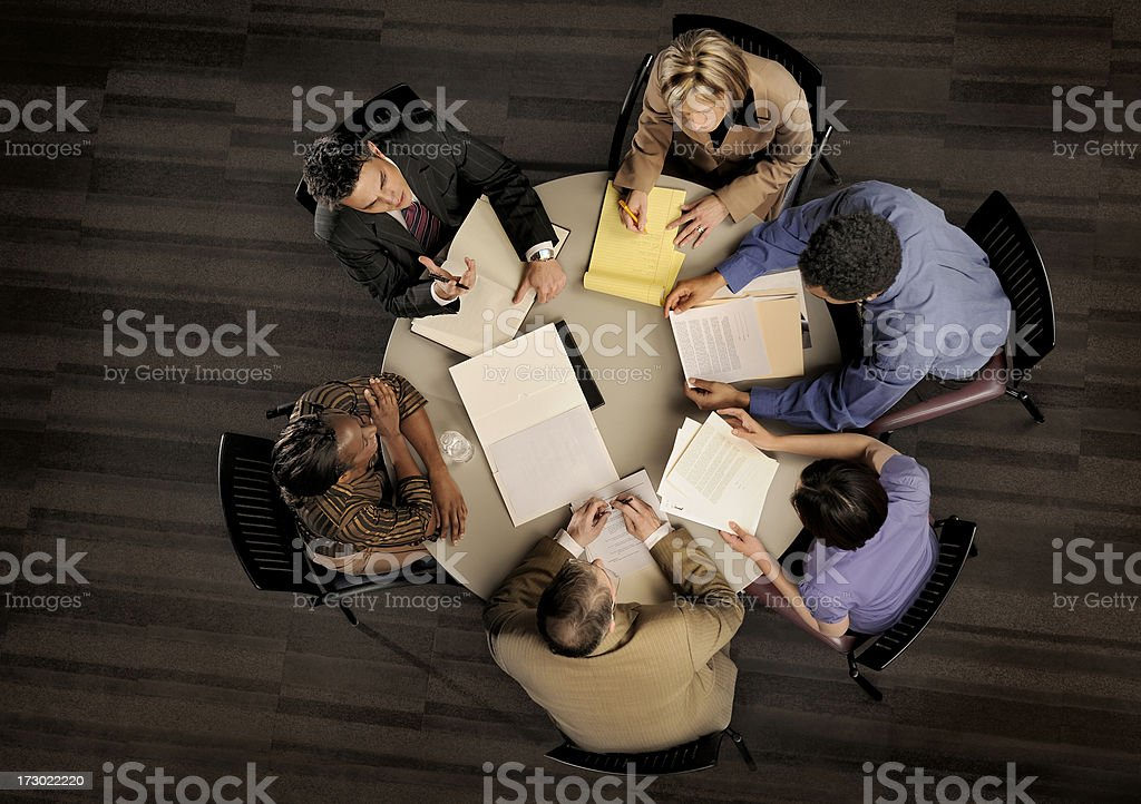 power meeting from above royalty-free stock photo