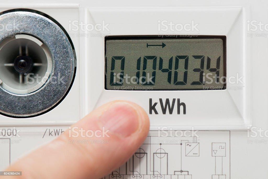 Power Meter - Digital - Power Consumption stock photo