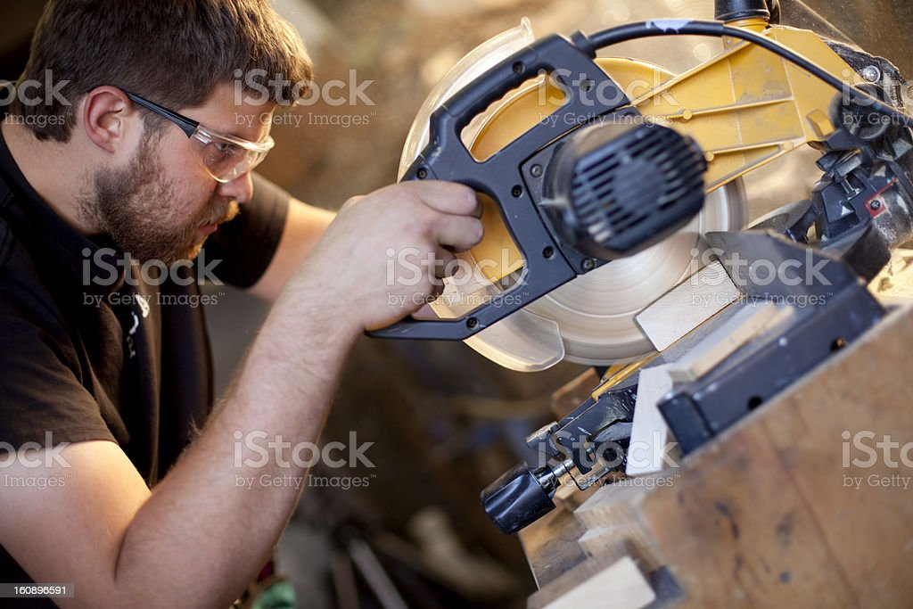 Power Miter Saw royalty-free stock photo