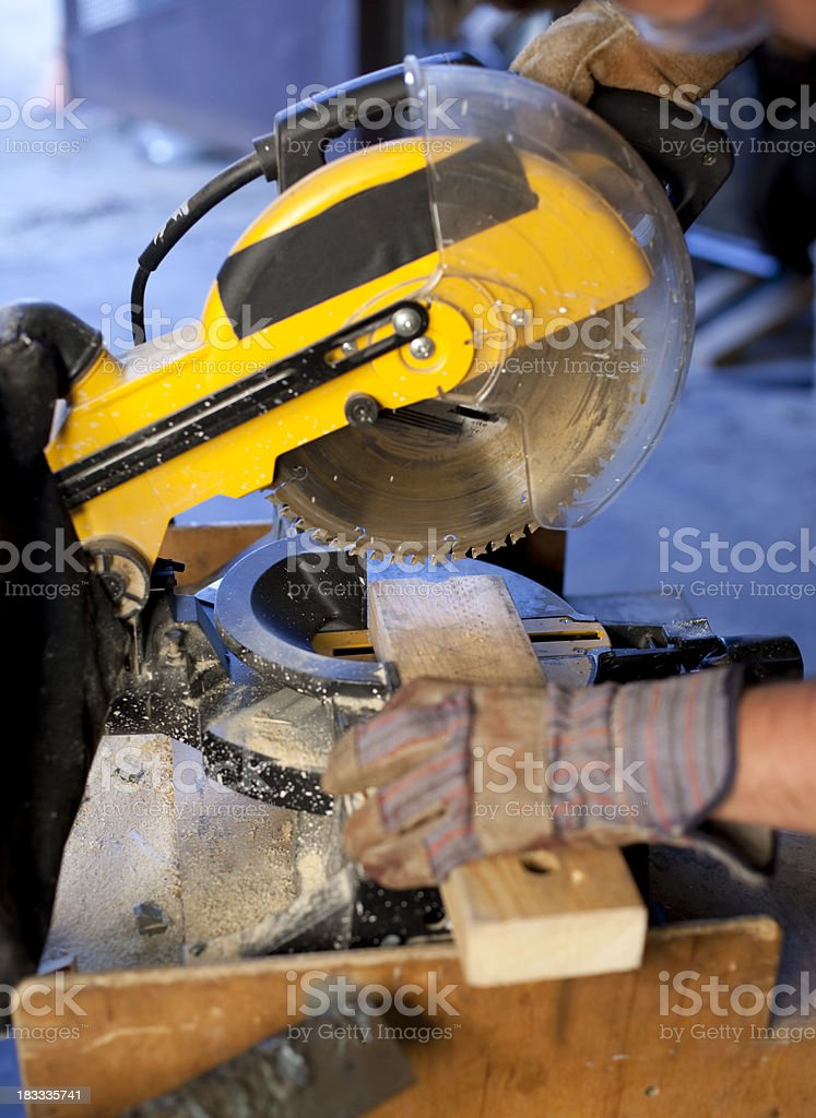 Power Miter Saw stock photo