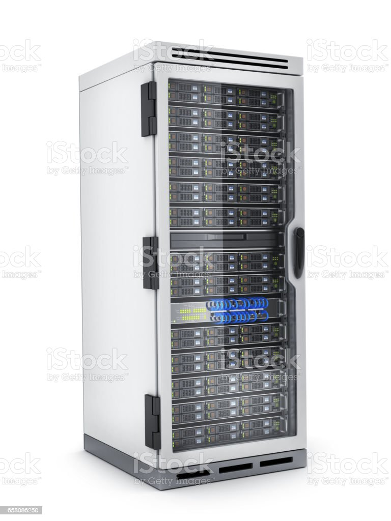 Power modern server only royalty-free stock photo