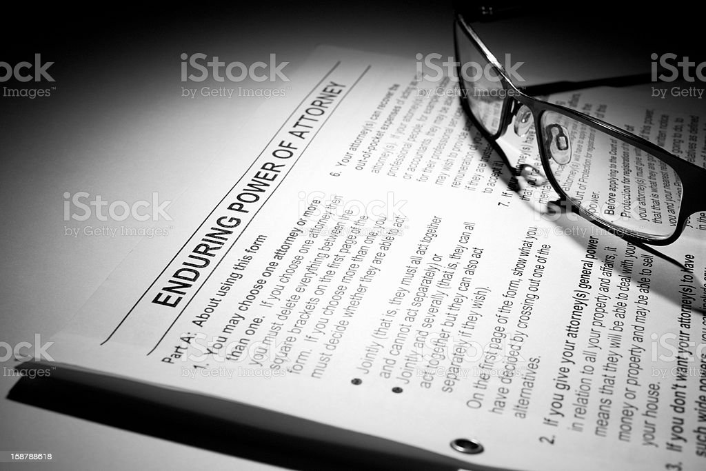 power of attorney document royalty-free stock photo