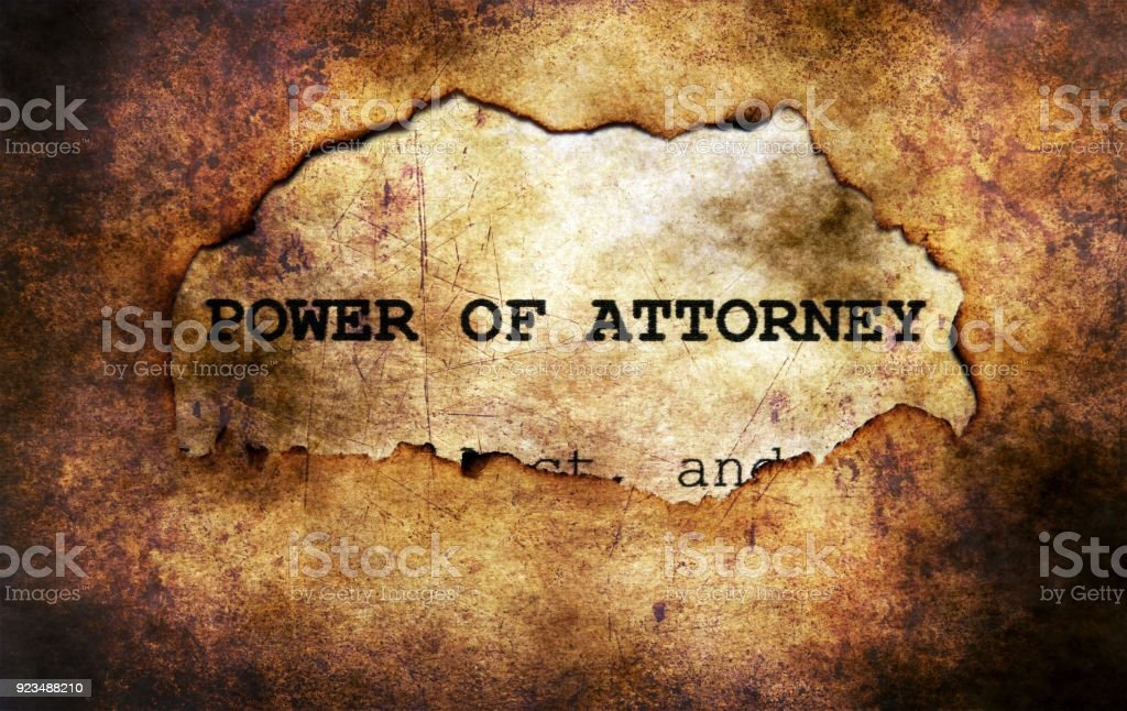 Power of attorney paper hole stock photo