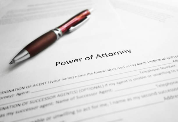 Power of Attorney paper stock photo