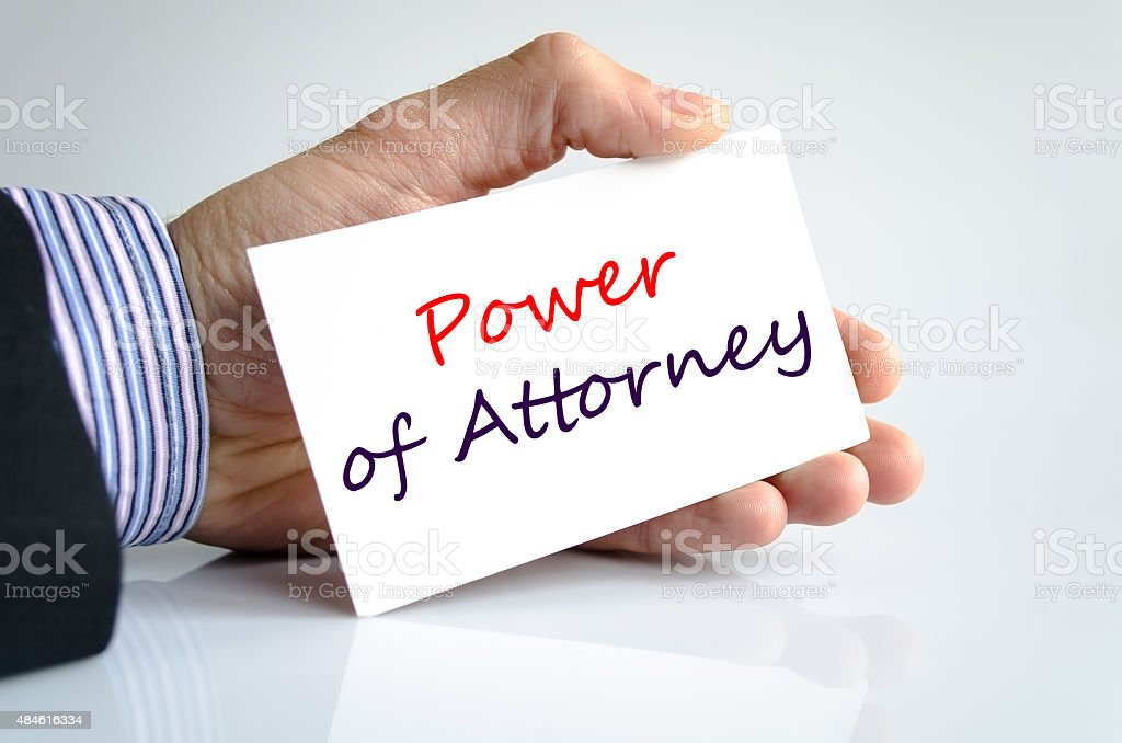 Power of attorney Text Concept stock photo