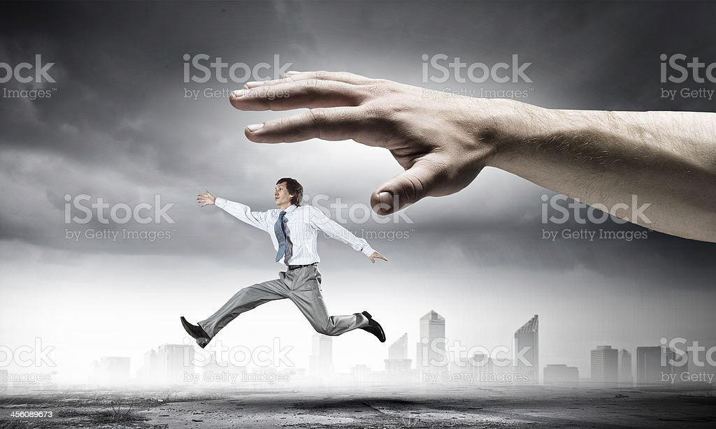Power of boss royalty-free stock photo