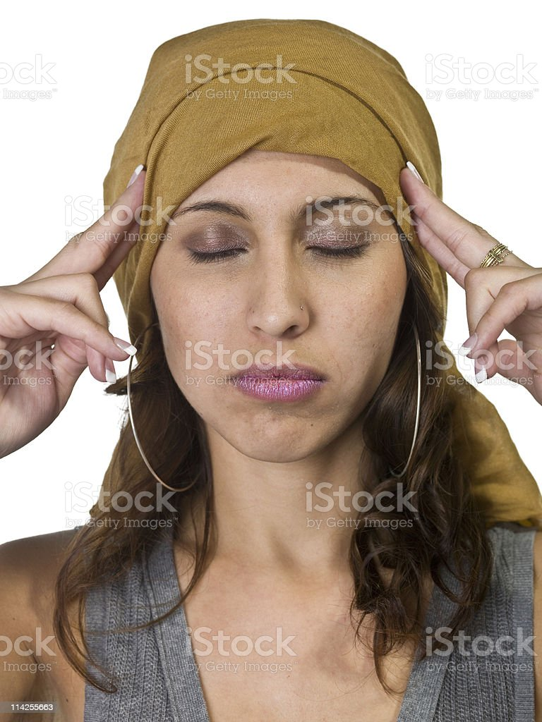 Power of concentrating royalty-free stock photo
