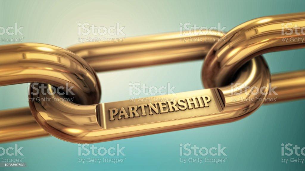 Power of partnership stock photo