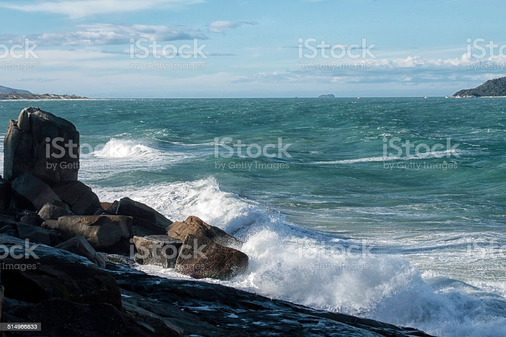 power of the waves stock photo