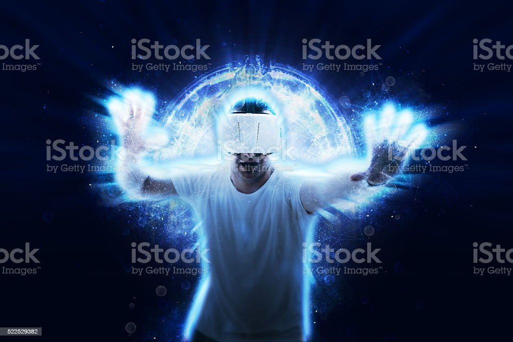 Power of virtual reality stock photo