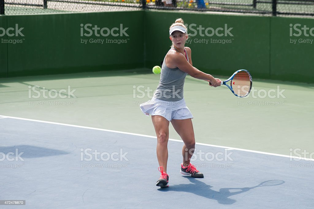Power on the backhand stock photo