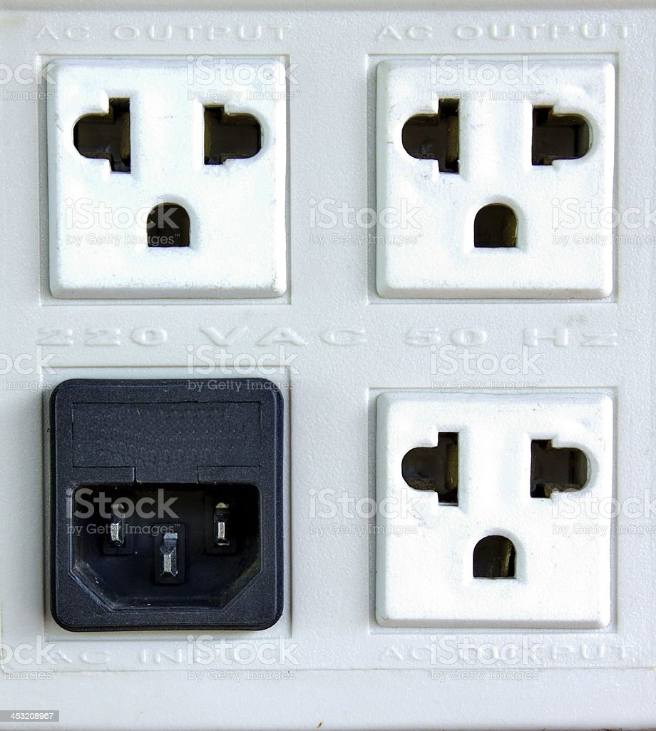 Power outlet royalty-free stock photo